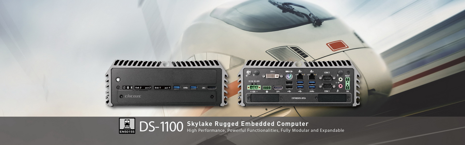 DS-1100: 6th Generation Intel® Core™ i3 / i5 / i7 (Skylake-S) High Performance, Modular and Expandable Rugged Embedded Computer