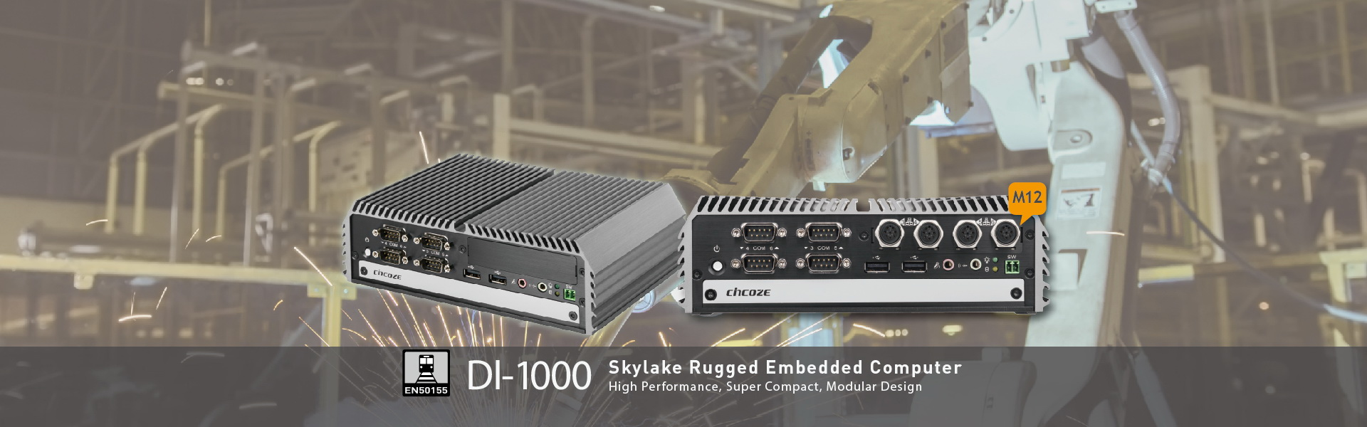 DI-1000: 6th Generation Intel® Core™ Processor (Skylake-U) High Performance, Compact and Modular Rugged Embedded Computer