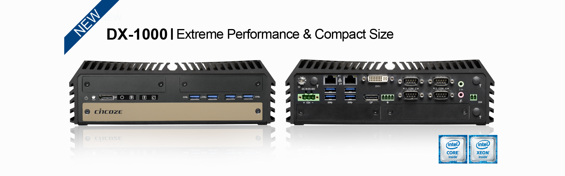 DX-1000: 7/6th Generation Intel® Xeon® and Core™ Processors, Extreme Performance, Compact and Modular Rugged Workstation